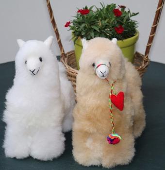 Alpaca Baby Teddy Fur Llama Peruvian Beautiful Cuddly Plushie Very