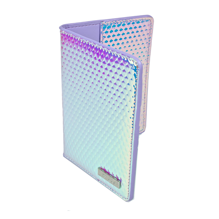 Travel Organizer Hologram PU leather passport holder travel gift
