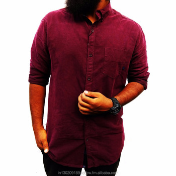 4cbdb604 LUMEN HARTS Branded Export Quality Solid Casual Shirts - Manufacturer