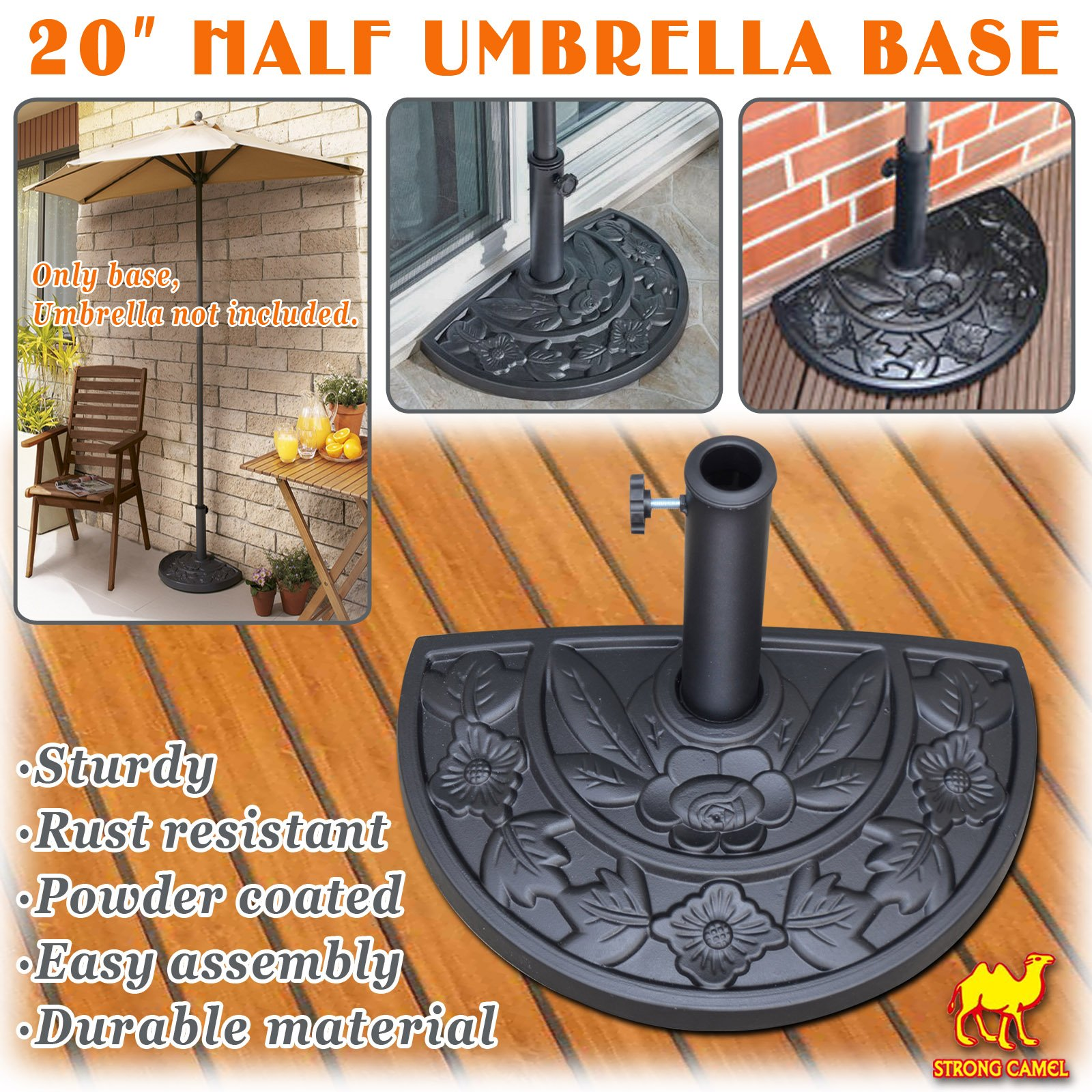 Buy Strong Camel Outdoor Patio Umbrella Stand Deck Parasol Weight