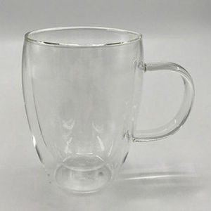 Glass Tea Mug with Stainless Steel Strainer
