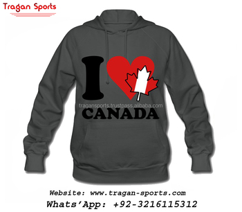 WOMEN I LOVE CANADA CUSTOM LOGO FLEECE PULLOVER HOODIES & HOOD SWEATSHIRTS