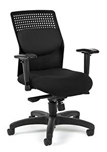 """Ofm Office Chair Overall: 28.75""""W X 28.75""""D X 39-42.5""""H Seat Size: 19.25""""W X 20.75""""D Back Size: 16.75""""W X 21.75""""H Seat Height: 18.75""""-22.25"""" - Black"""