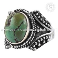 Unique design turquoise ring 925 sterling silver jewelry online indian silver jewelry