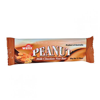 Peanut and Milk Chocolate Snack Bar 50g x 20 - made in Australia with Australian Peanuts