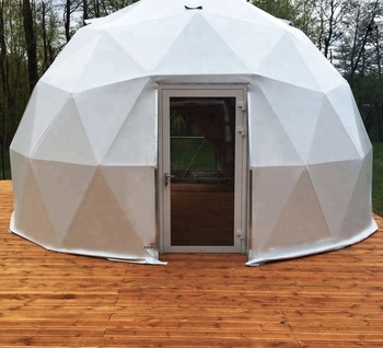 6m diameters, 28.3 square meters outdoor events geodesic domes tents small dome tent with glass door