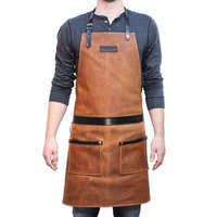 new fashion High Quality Durable Leather BBQ Apron Work Tool Apron