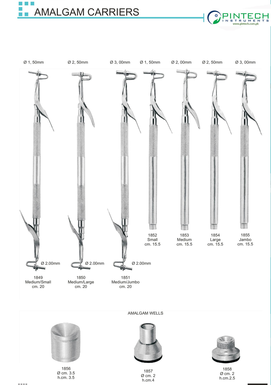 New Dental Amalgam Carriers 12cm Single End Curved Filling Instruments Surgical