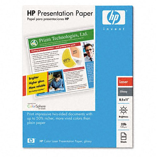 HP : Laser Presentation Paper, Glossy White, 32lb, 11 x 17, 250 Sheets -:- Sold as 2 Packs of - 250 - / - Total of 500 Each