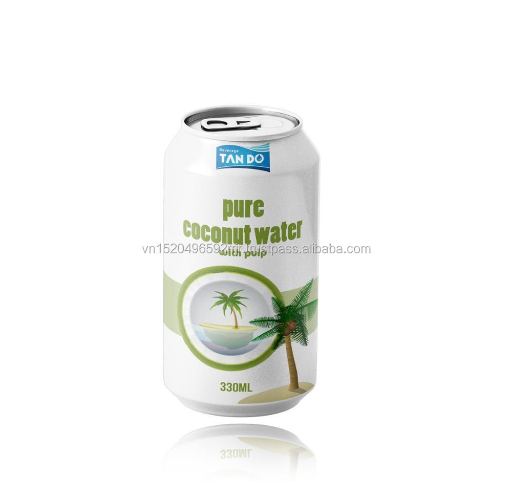 Canned coconut water juice drink under OEM from Tan Do beverage company