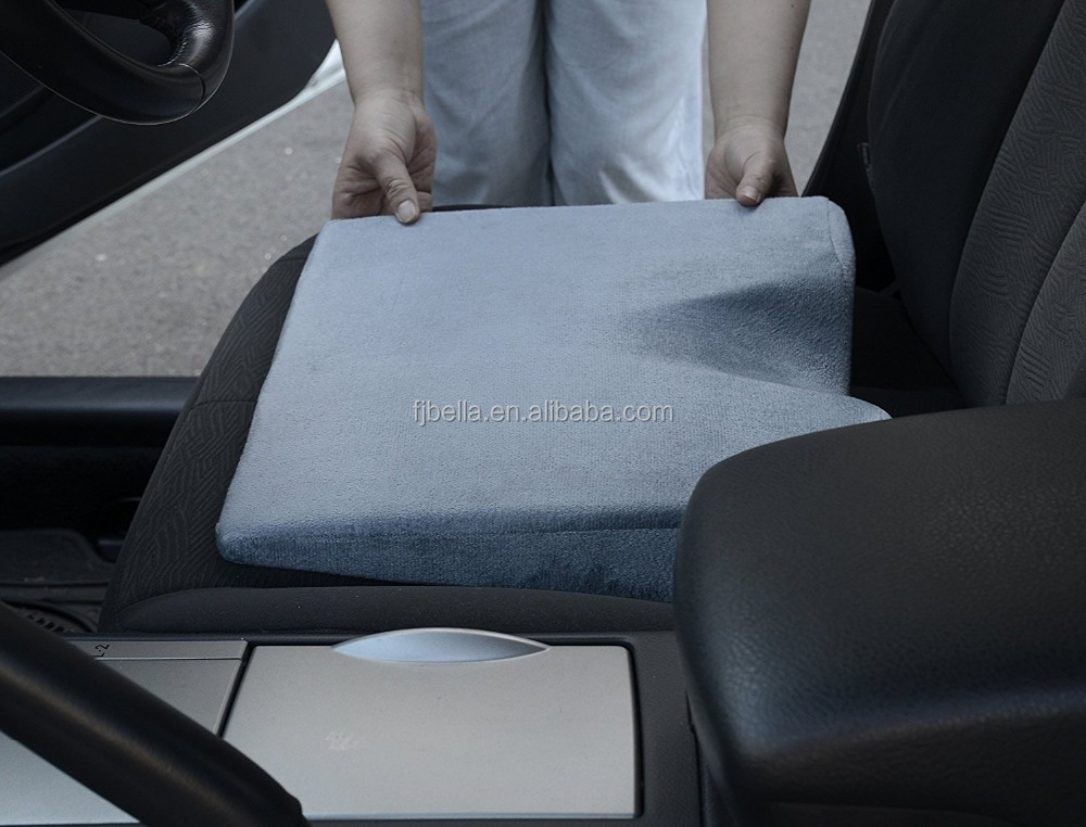 Unique Wedge Seat Cushion Lessen Back Pain Reduce Slouching Therapeutic For Car Increase Driving Height