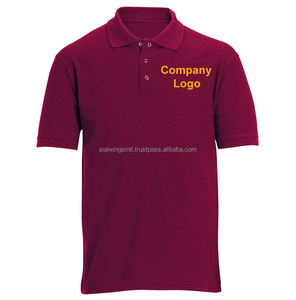 100% cotton custom workwear polo shirt with Embroidery your logo, staff uniform shirts