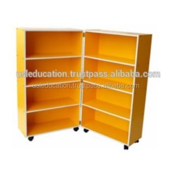 Mobile Foldable Bookshelf Children Cabinet Shelf Rack