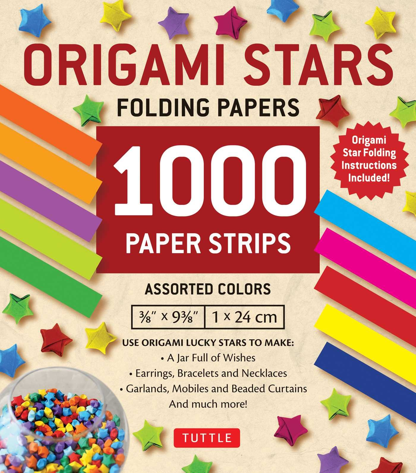 Caydo 1850 Sheets 3 Styles 47 Colors Origami Stars Paper Double Sided and Luminous and Glitter Paper Set