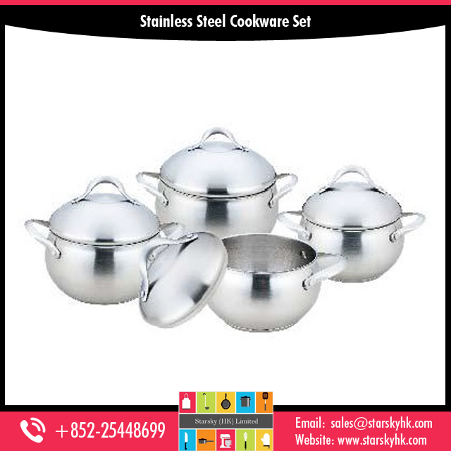 8 Pcs Stainless Steel Cookware Set for Sale