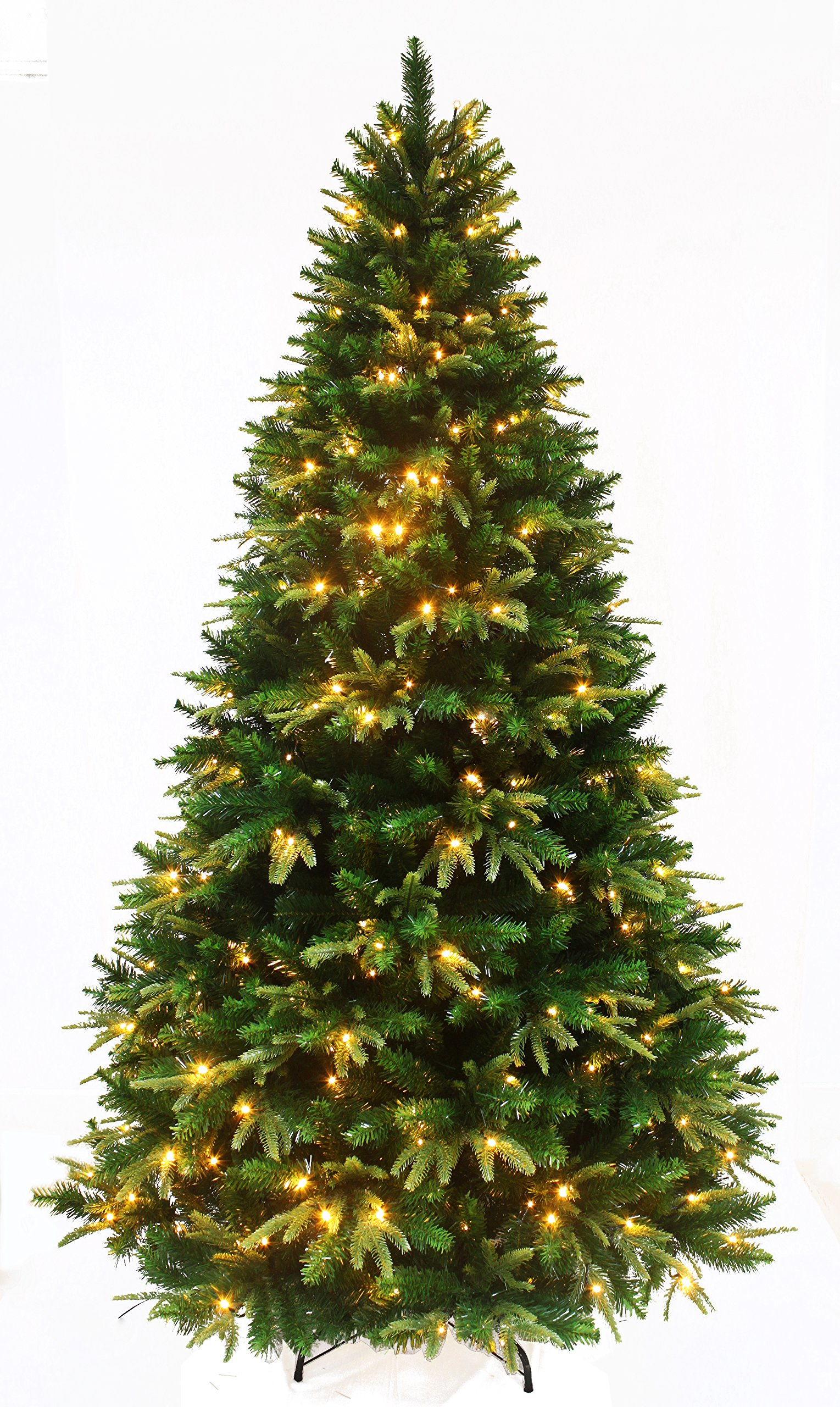 get quotations holiday stuff spring spirits fir christmas tree prelit with led lights and real feel pe