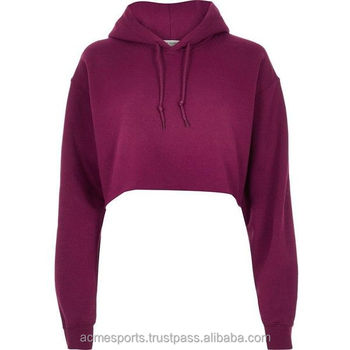 2939131b5e3c20 womens crop top hoodies - Wholesale Custom Women Tops V neck Ladies  Sweatshirt Crop Fashion Hoodie