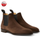 Chelsea boots men, Chocolate Brown Suede Chelsea Boots, New Fashion Leather Boots Shoes