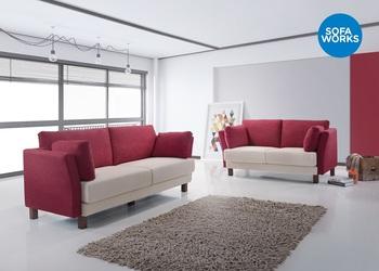 Classic Fabric Sofa Loose Cushion Wooden Leg Mix Match Color
