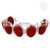 Lavish red carnelian gemstone bracelet handmade 925 sterling silver jewelry wholesale jewellery