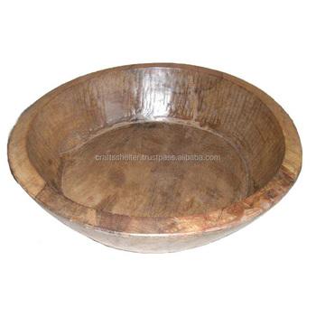 Rustic Vintage Antique Wooden Bowl