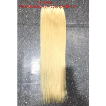 Blonde Hair Weft Human Hair High Quality Shiny Anka Hair