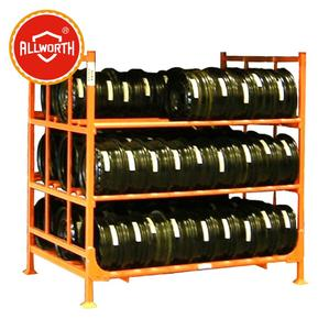 ALL WORTH Metal Steel Stacking Tire Rack,Stacking Rack,Tire Shelf
