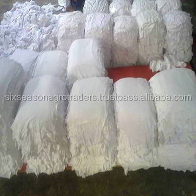 White colour 100% cotton fabric cutting waste