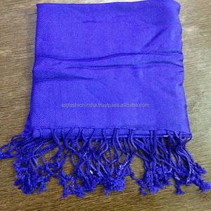 Wholesale Solid Color 100% Viscose Pashmina Shawl Stole Scarf
