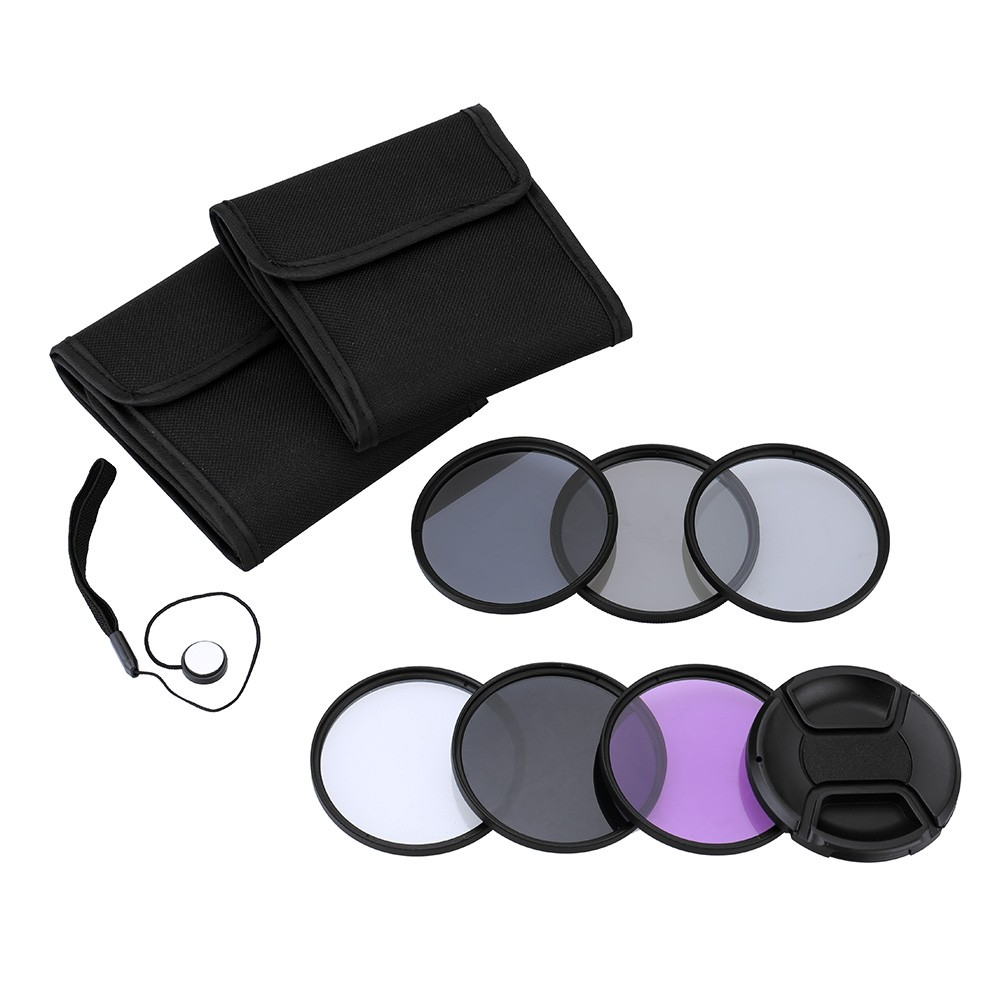 Andoer 67mm UV+CPL+FLD+ND(ND2 ND4 ND8) Photography Filter Kit Set Ultraviolet Circular-Polarizing Fluorescent Neutral D2878