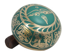 MEDITAZIONE <span class=keywords><strong>YOGA</strong></span> 4.5 VERDE GOLDENTONE SINGING BOWL/MANTRA/MALLET