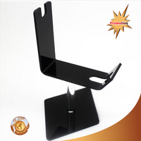 wholesale knock-down black perspex knife rack desktop acrylic karambit display stand