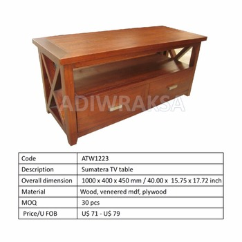 Sumatera Tv Table - Buy Tv Stand,Wood Tv Table,Classic Tv Table Product on  Alibaba com