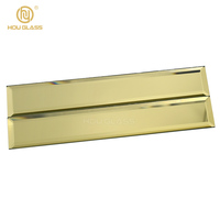 Professional customization Paint free gold beveled mirror strips decorative mirror tiles