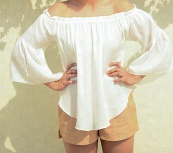 1e8909a95e White Gypsy Off Shoulder Frill White Beach Dress