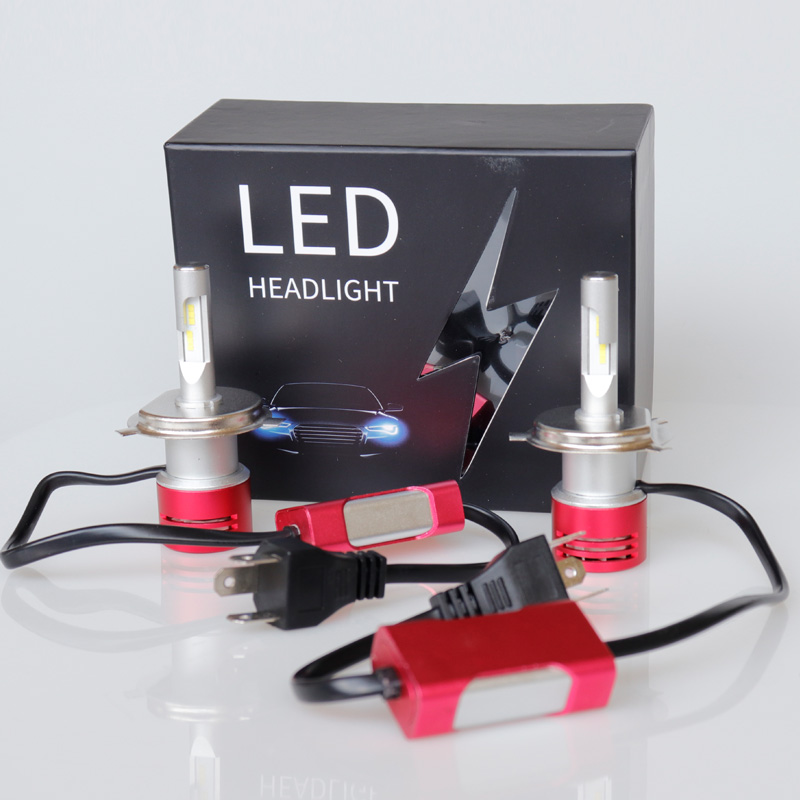 Automobile Lamp 360 Light V5 T5 LED Headlight 8400LM H4 Waterproof