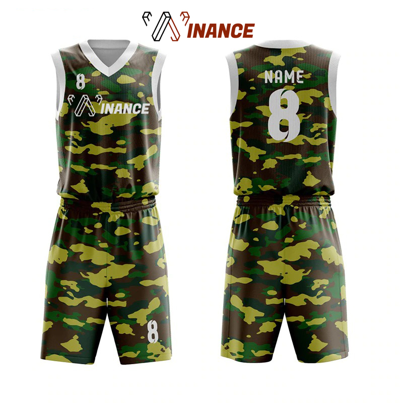 Hochwertige Camouflage Volle Sublimation Basketball Uniform