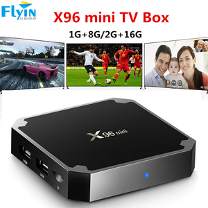 X96 mini Android 7.1 Digital TV BOX 2GB 16GB WiFi Smart Media Player X96mini Set-top Box with IR Cable