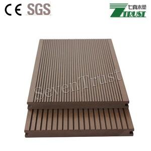 New design Solid WPC decking Hard wearing Co-Extrusion composite deck. Waterproof WPC outdoor Co-Ex decking floor