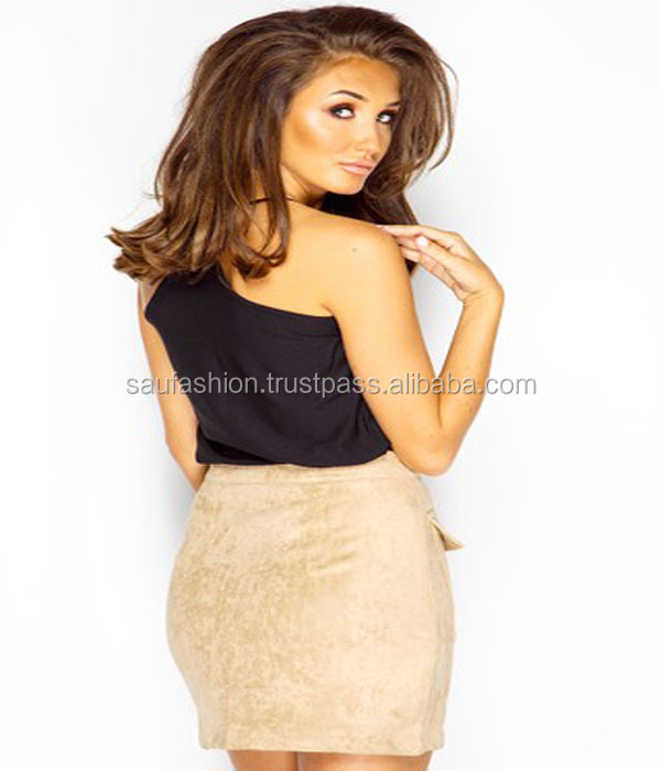 f0bdae917 Megan Mckenna Stone Suede Zip Front Skirt - Buy Ladies Dress Product ...