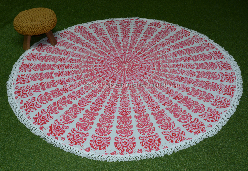 home decor round table cover beach mat kitchen table mat