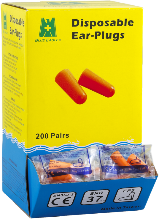 Workplace Safety Supplies EP5 disposable ear plugs with certification CE EN352-2 -1
