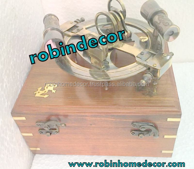 Antiques Creative Marine Sextant Working Antique Collectibles New Nautical Brass W/ Wooden Box By Scientific Process