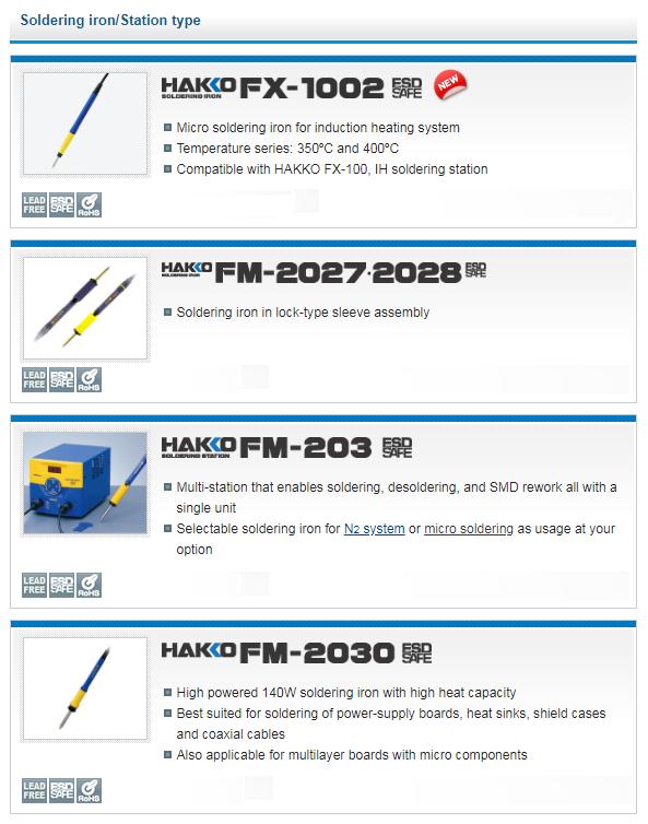 HAKKO Micro soldering iron FM-2032 form JAPAN