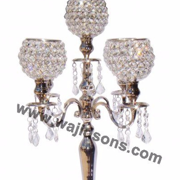 Wedding Crystal Decoration Floor Standing Candle Holders