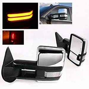 SCITOO Pair Door Mirrors fit 88-99 Chevy GMC C//K 1500 2500 3500 92-99 Chevy Suburban C//K 1500//2500//3500 Yukon XL Manual Adjusted Non-Folding Non-Extended Side Tow Mirrors