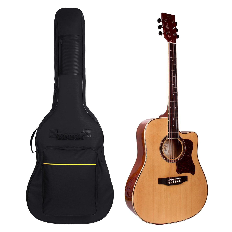 fd8a29a562c Get Quotations · Dealoff Guitar Bag,41 Inch Acoustic Guitar Gig Bag Soft Case  Cover Water-Resistant