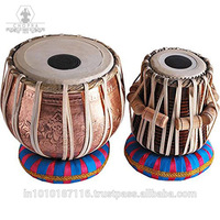 Tabla Ganesha Copper Lord Drum Set, Professional Decorative Bayan, Best Handmade Dayan with, Hammer, Cushions & Box