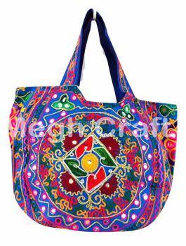 Aari Mirror Work Handbag Embroidered Mirror Work Handbag Hand