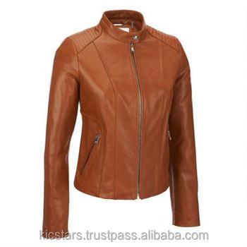 Ladies Branded Brown Leather Jackets - Buy Ladies Branded Brown